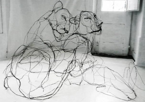 dieren-draad-sculpturen