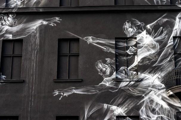 spook-muurschilderingen