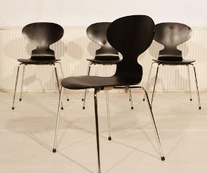 Arne Jacobsen Stoel : 4 mier stoelen van arne jacobsen eyespired
