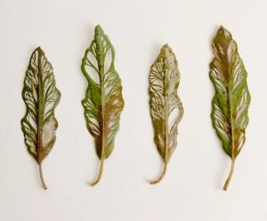 borduren-bladeren