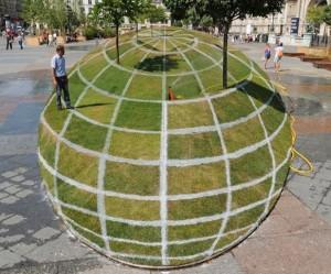 gras-wereldbol