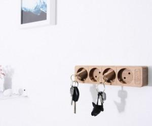 houten-stekkerdoos-sleutelhouder