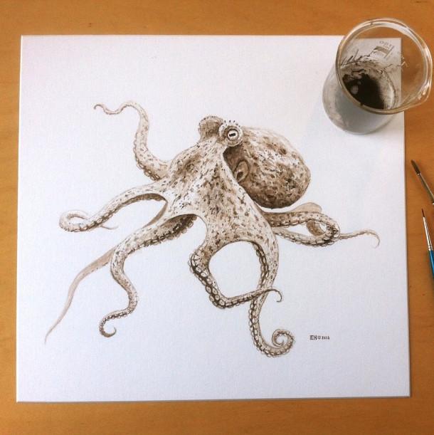 Populair Tekening van een octopus met 95 miljoen jaar oude inkt - EYEspired KN82