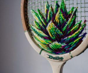 bloemen-borduren-tennisracket
