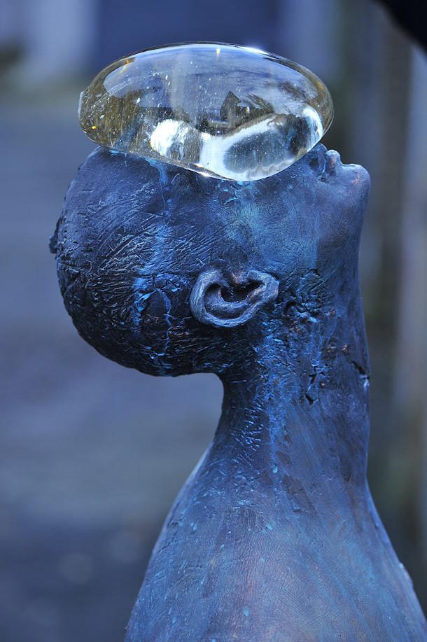 regendruppel-glas-brons-sculptuur-2
