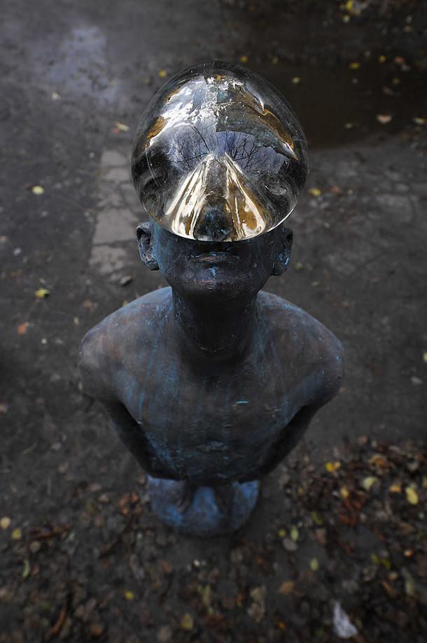 regendruppel-glas-brons-sculptuur-3