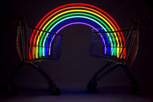 regenboog-winkelwagen