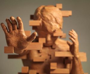 pixel-sculpturen-hout