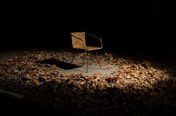 stoel-bladeren
