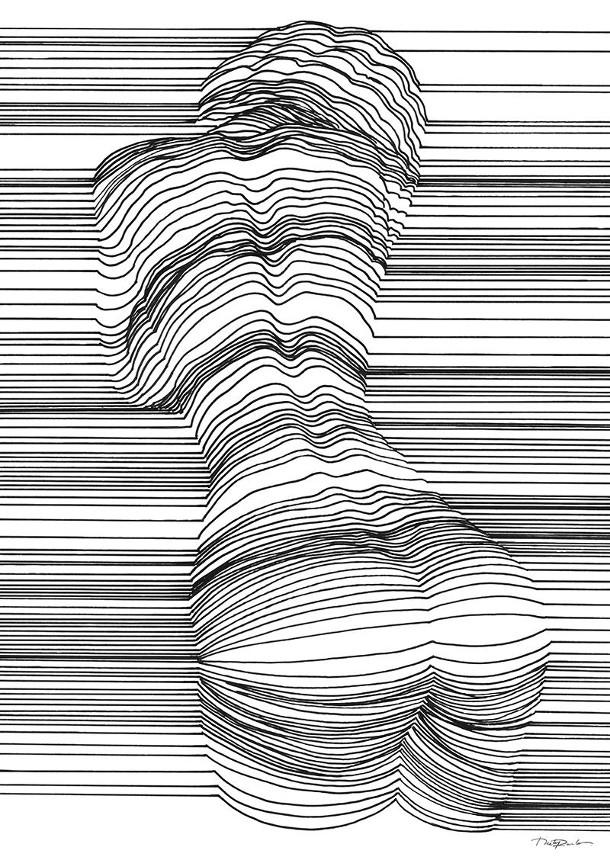 D Line Drawing : Tekeningen van naakten met optische illusies eyespired