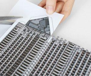 postmodern-gebouwen-papier