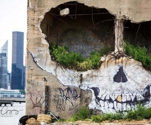 muurschildering-schedel