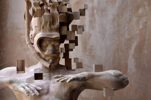 pixel-sculptuur-duiker