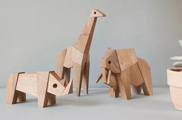 houten-origami-dieren
