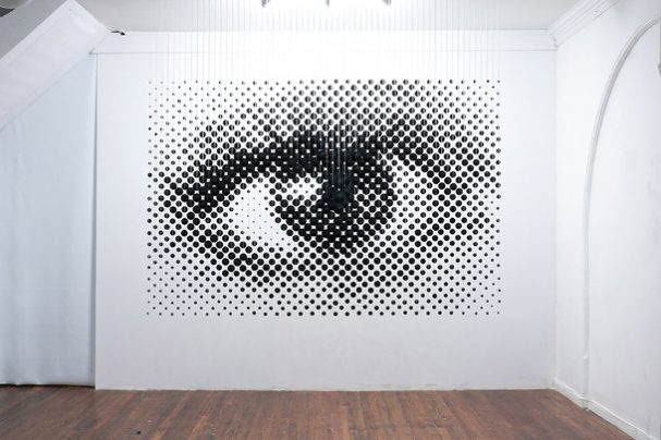 driedimensionale-compositie-oog