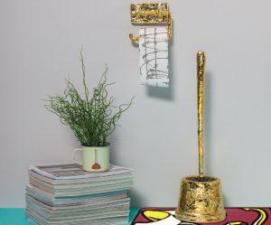 gouden-toiletrolhouder-wc-borstel