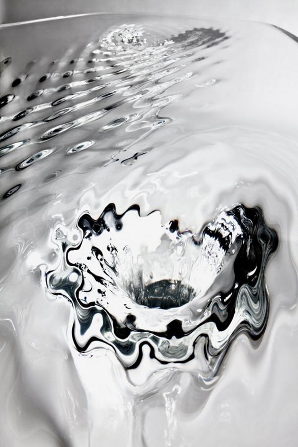 Glazen tafel van architect Zaha Hadid