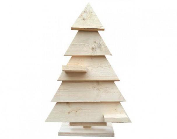 Houten kerstboom gemaakt van steigerhout