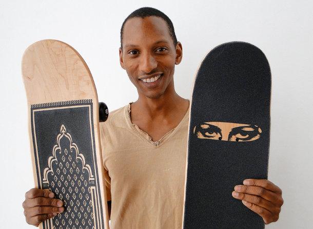 Burka skateboard van Sebastian Errazuriz