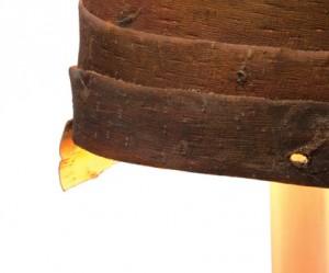 Houten lamp van designer Floris Wubben