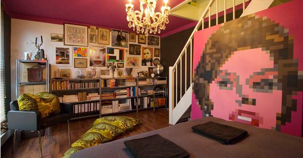 Airbnb Amsterdam - kunst appartement