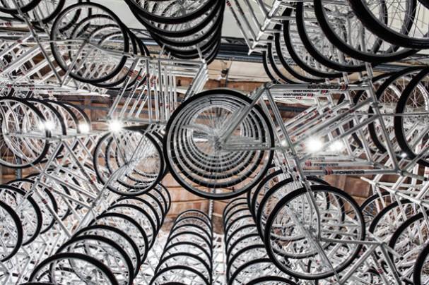 Fiets kunst can Chinese kunstenaar Ai WeiWei