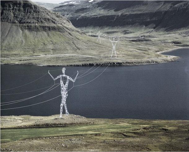 Hoogspannings toren in IJsland