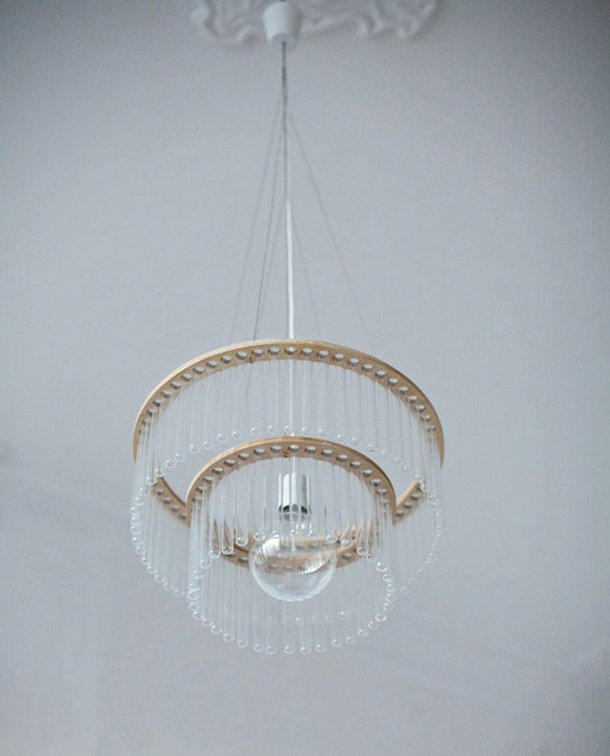 Design kroonluchter van glas