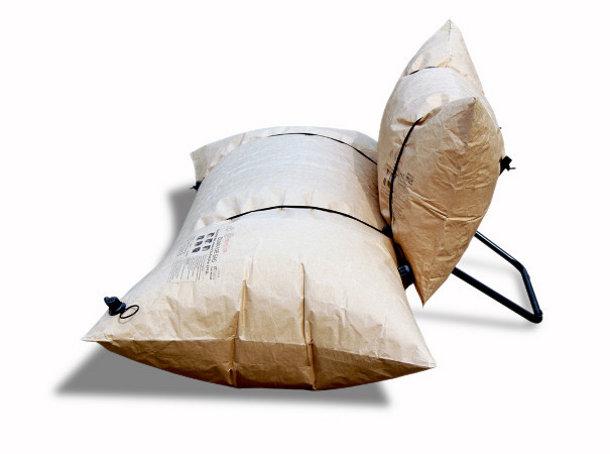 Recyblebare stoel van een luchtzak