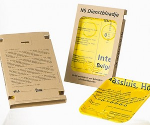 Dienblad van oud NS informatiebord