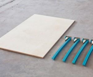 Houten design tafel