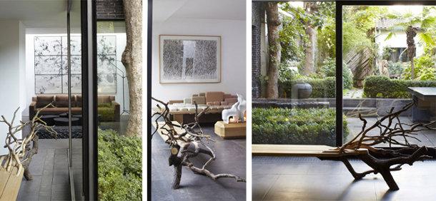Design bankje van eikenhout