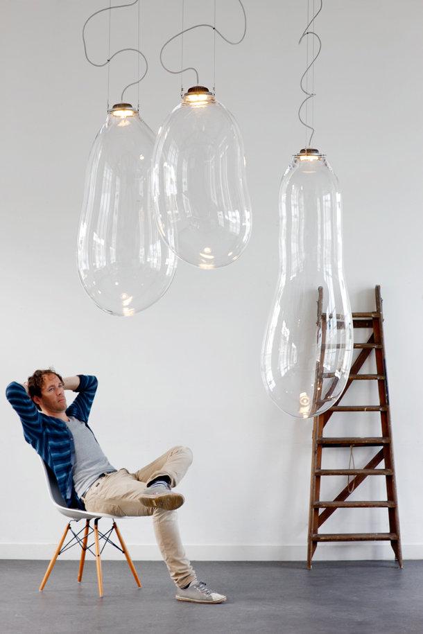 glazen hanglamp van Alex de Witte