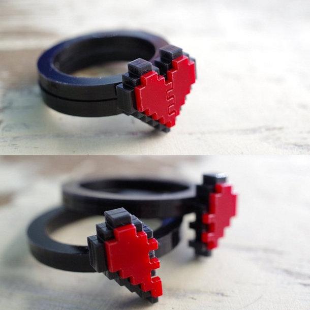 ring met een hartje