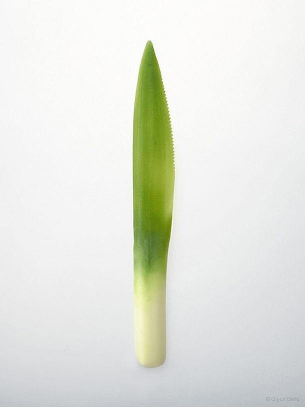 Wegwerp bestek van groenten