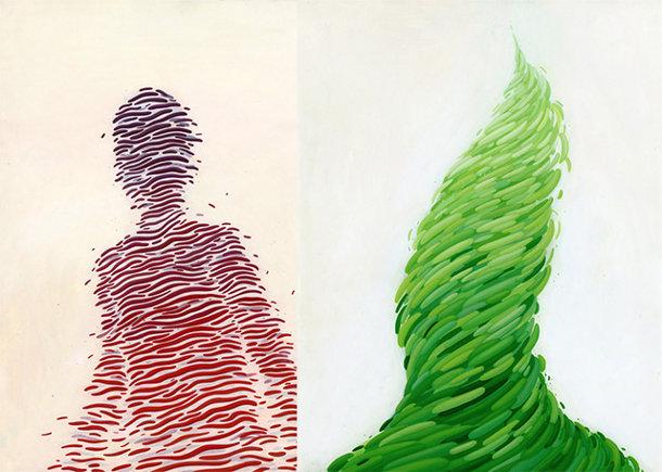 Fantasievolle schilderijen van Brendan Monroe