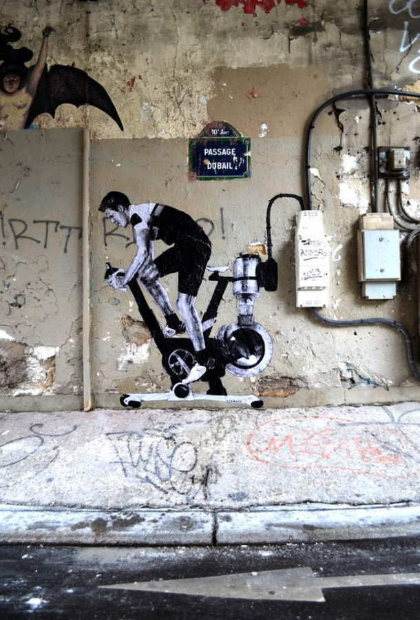 Street art in Parijs van Lavelet