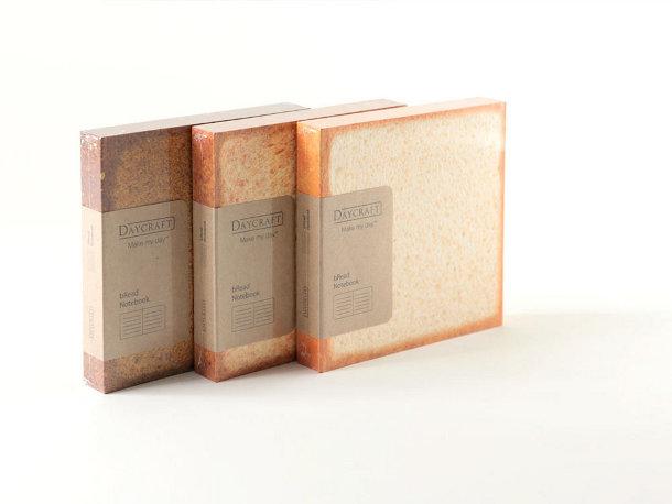 Creatieve notitieboekjes in de vorm van brood
