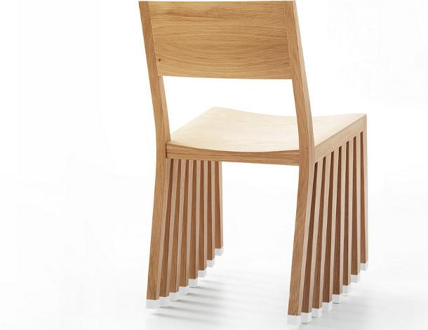 Houten design schommelstoel