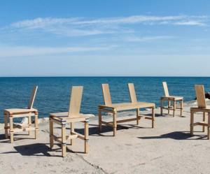 Draagbare mobiele houten stoel