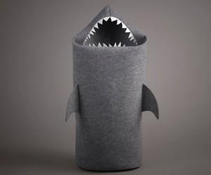 Haai als wasmand van vilt