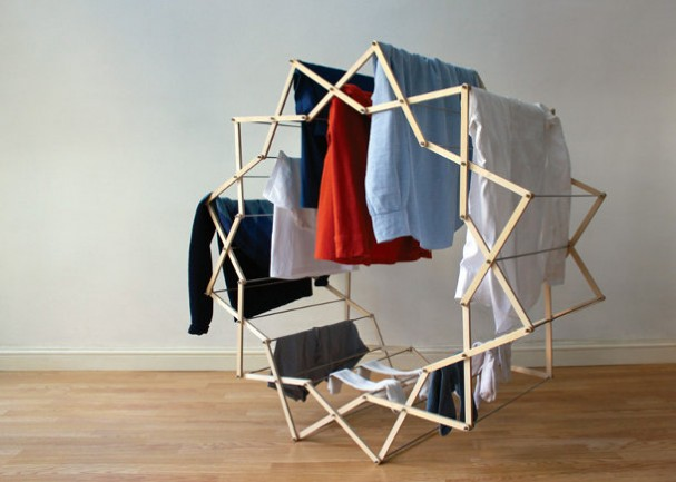 Houten design droogrek van Aaron Dunkerton