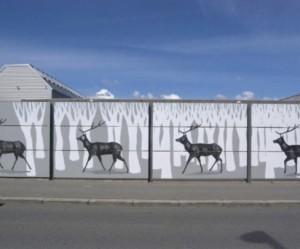Hyuro's muurschildering in Kopenhagen