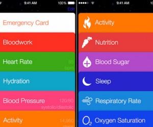Healthbook iPhon app