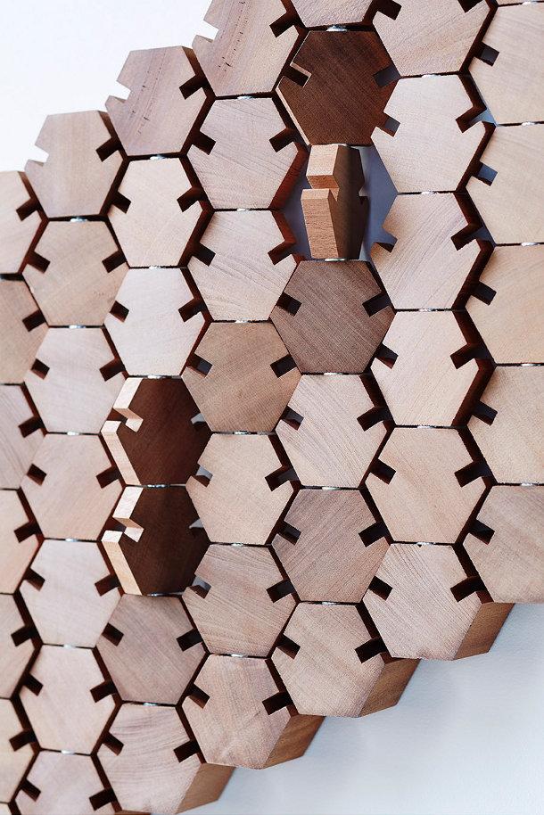 Houten design kapstok