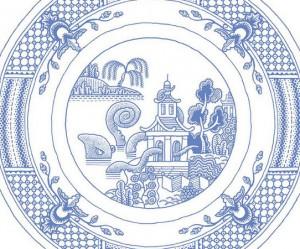 Klassiek porseleinen servies van Calamityware