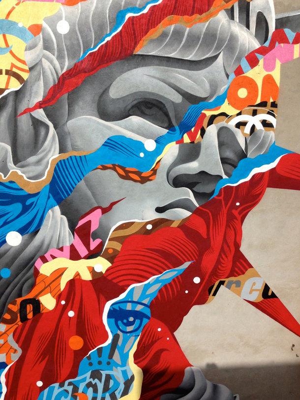 Muurschildering van Tristan Eaton