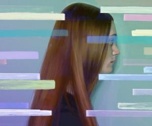 Digitaal portret van een vrouw