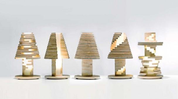 Houten LED lamp