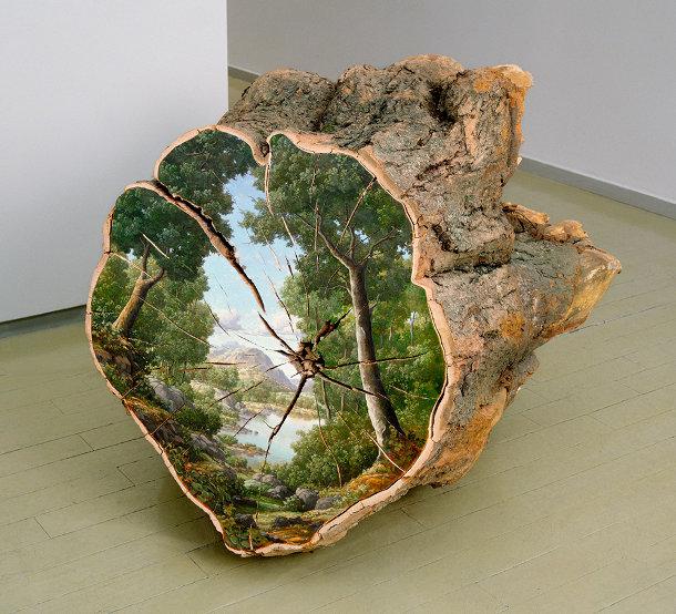 schilderingen-landschappen-boomstammen-2